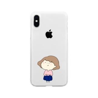 待ちぼうけのんちゃん Soft clear smartphone cases