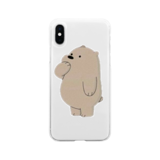 mochi__spopのくまさん Soft clear smartphone cases
