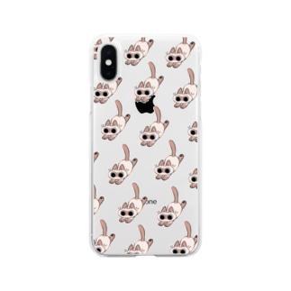 てちてちあずきさん Soft clear smartphone cases