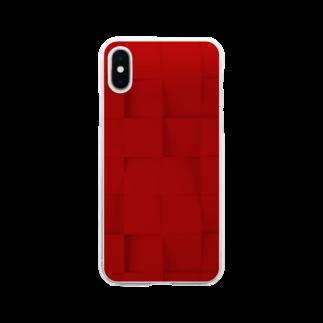 SANKAKU DESIGN STOREの詰め込まれた正方形。 Soft clear smartphone cases