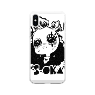 N+SA*CASMの根キャベツ Soft clear smartphone cases