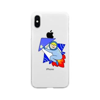 ロケットお坊ちゃん Soft clear smartphone cases
