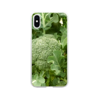 日本の野菜:ブロッコリー Broccoli Soft clear smartphone cases