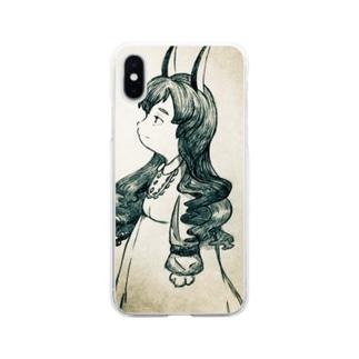ウサギのボロラ Soft clear smartphone cases