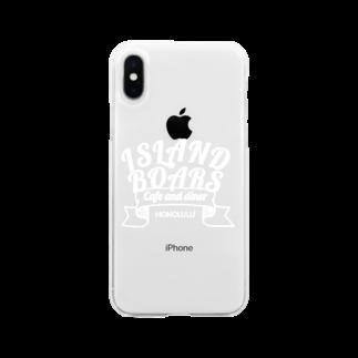 ISLAND BOARSのIB item WHITE Soft clear smartphone cases