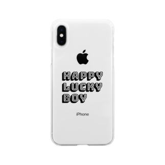 HAPPYLUCKYBOYのHAPPY LUCKY BOY Soft clear smartphone cases