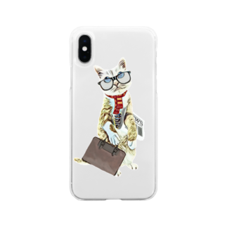 Rock catのサラリーキャット Soft clear smartphone cases