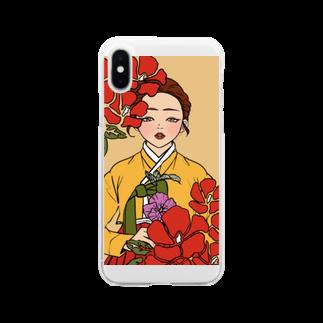 MINiのチマチョゴリ Soft clear smartphone cases
