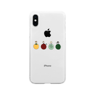 sio__21__gramのfruits girls Soft clear smartphone cases