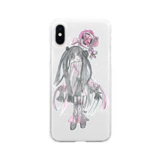 才能発掘アカデミーのほのか/お市影(おいちかげ) Soft clear smartphone cases