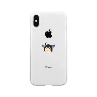 本日も晴天なりの楝 Soft clear smartphone cases
