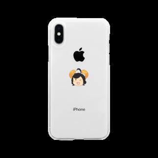 本日も晴天なりの叉苗 Soft clear smartphone cases