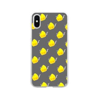 チーズネズミ Soft clear smartphone cases