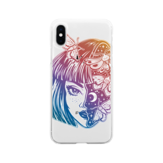 RedMoonのgirl knows the world Soft clear smartphone cases