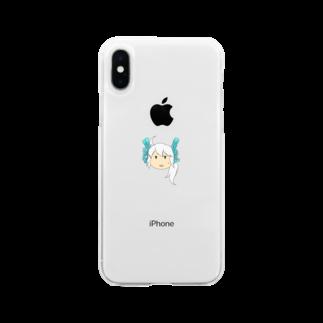 本日も晴天なりの黒唄 Soft clear smartphone cases