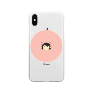本日も晴天なりの鴇胡 Soft clear smartphone cases