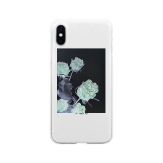 Stella-starのRoses Soft clear smartphone cases