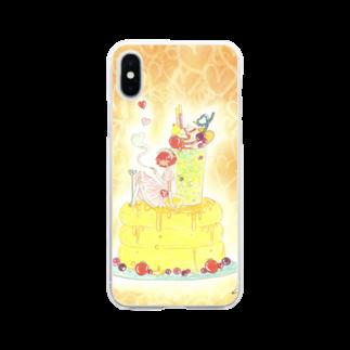 くらたまみの甘く見ないで Soft clear smartphone cases
