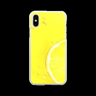 フラミンゴ洋裁店のレモン Soft clear smartphone cases