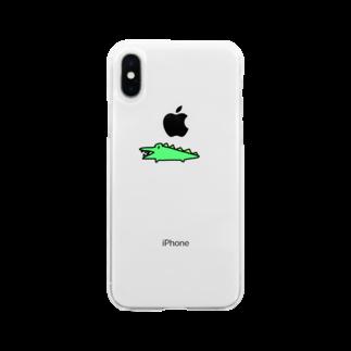 はむこストアのワニコさん Soft clear smartphone cases
