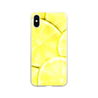 ライム Soft clear smartphone cases