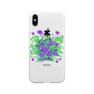 Shindo Of The Dayのタギング風ロゴ アナザーカラー Soft clear smartphone cases