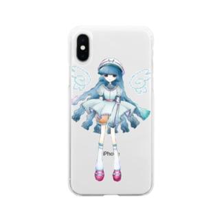 そうめんちゃん Soft clear smartphone cases