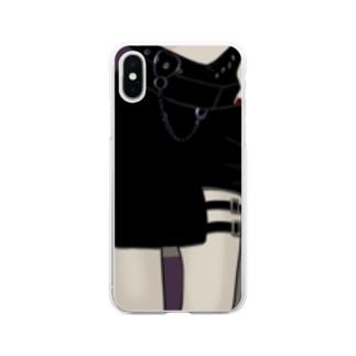 ガーターベルト Soft clear smartphone cases
