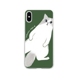 ラグドールのクィーン Soft clear smartphone cases
