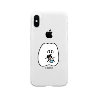 顧問ぬいと歯 Soft clear smartphone cases
