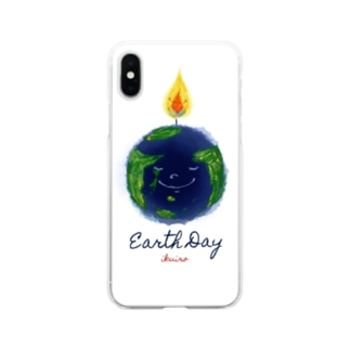 Earth Day 地球の日 Soft clear smartphone cases