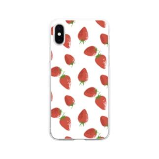 苺 Soft clear smartphone cases