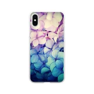 紫陽花・2 Soft clear smartphone cases