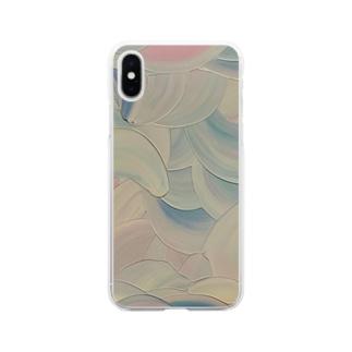 藤紫 Soft clear smartphone cases
