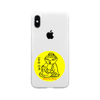 momogonのお薬師さん Soft clear smartphone cases