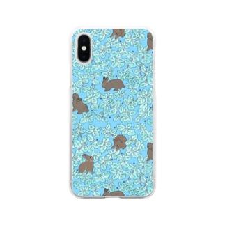 チョコミント Soft clear smartphone cases