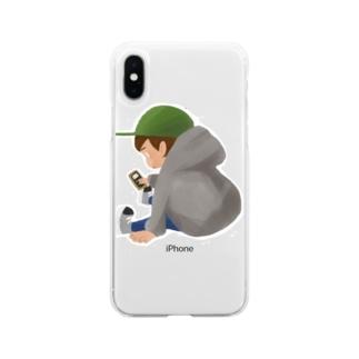 スキコソのタダボーツト Soft clear smartphone cases