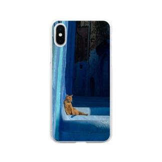 セクシー猫 Soft clear smartphone cases
