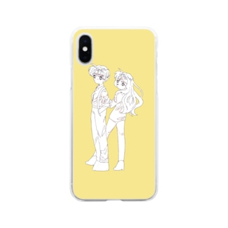 yellow Soft clear smartphone cases