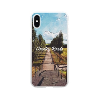 Country Roads(スマホケース版) Soft clear smartphone cases