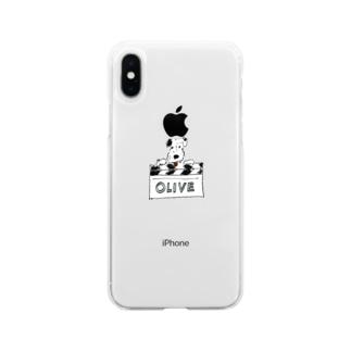 オリバーとカチンコ Soft clear smartphone cases