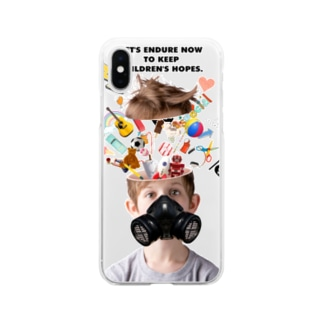 LET'S ENDURE NOW TO KEEP CHILDREN'S HOPES Soft clear smartphone cases