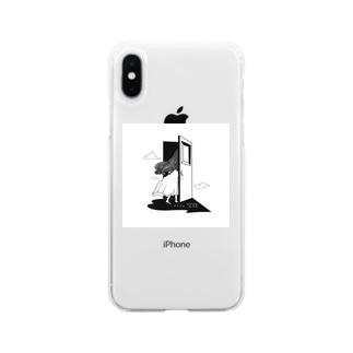 アトリエ「空白」ロゴグッズ Soft clear smartphone cases