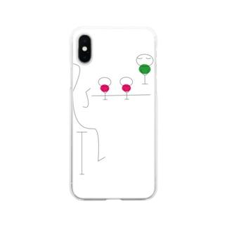 はっけんやさんの小言よ Soft clear smartphone cases