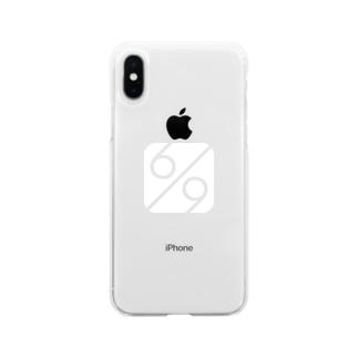秘密結社 6/9(パーセント) ロゴグッズ Soft clear smartphone cases