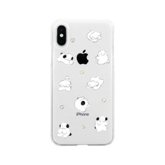 すてん・ころん Soft clear smartphone cases