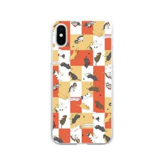 悪戯っ子インギーちゃん オレンジモザイク Soft clear smartphone cases