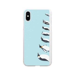 ペンギンタクサン Soft clear smartphone cases