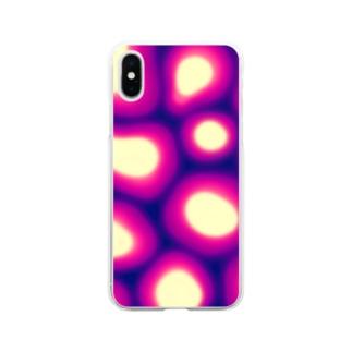 サイケデリック4 Soft clear smartphone cases