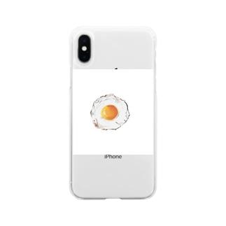 目玉焼き コレクション Soft clear smartphone cases
